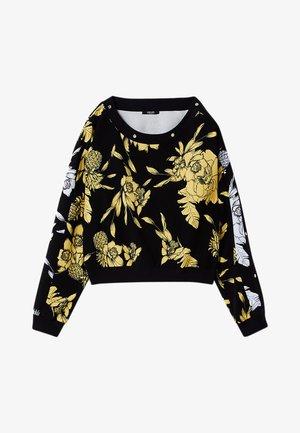 WITH PRINT - Sweatshirt - black