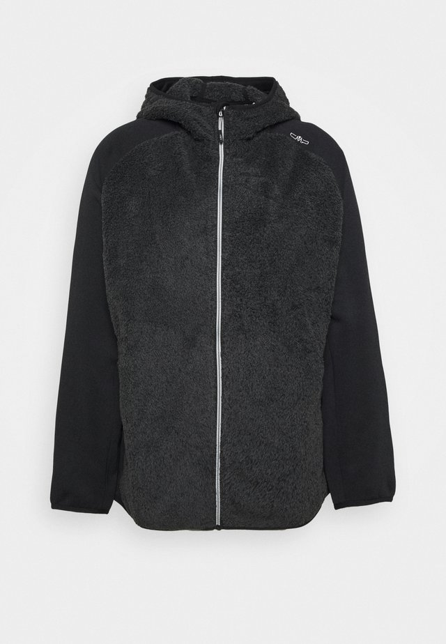 WOMAN JACKET FIX HOOD - Fleece jacket - nero