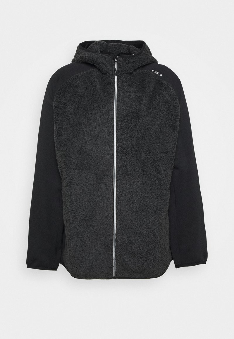 CMP - WOMAN JACKET FIX HOOD - Fleecejakke - nero