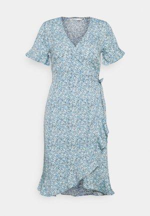 ONLOLIVIA WRAP DRESS TALL - Day dress - dusk blue