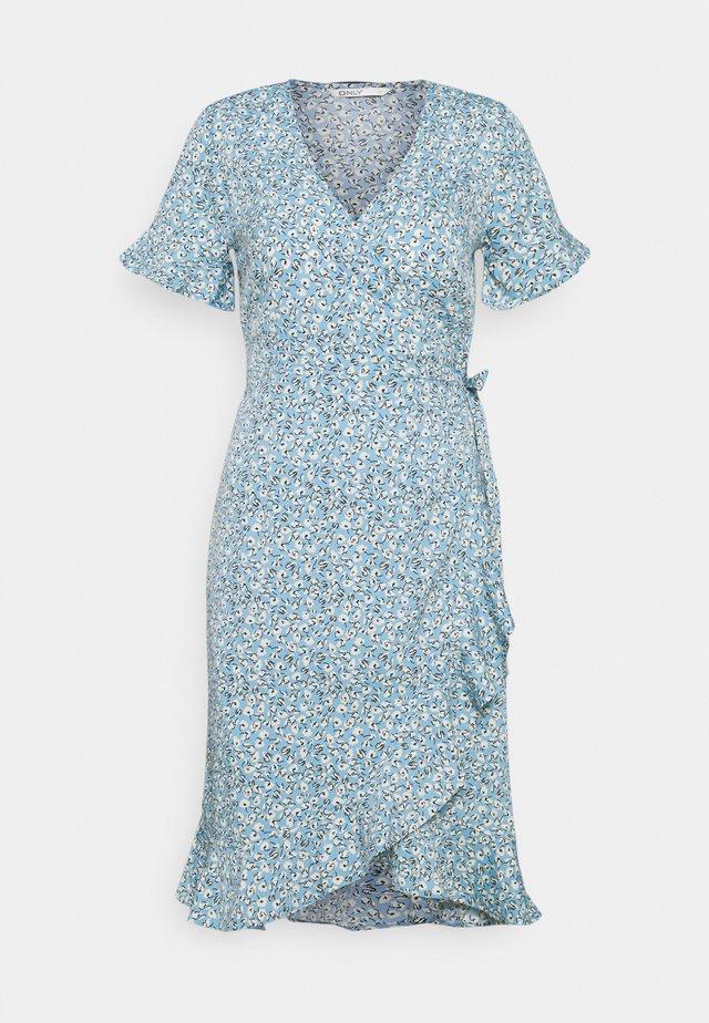 ONLOLIVIA WRAP DRESS TALL - Kjole - dusk blue