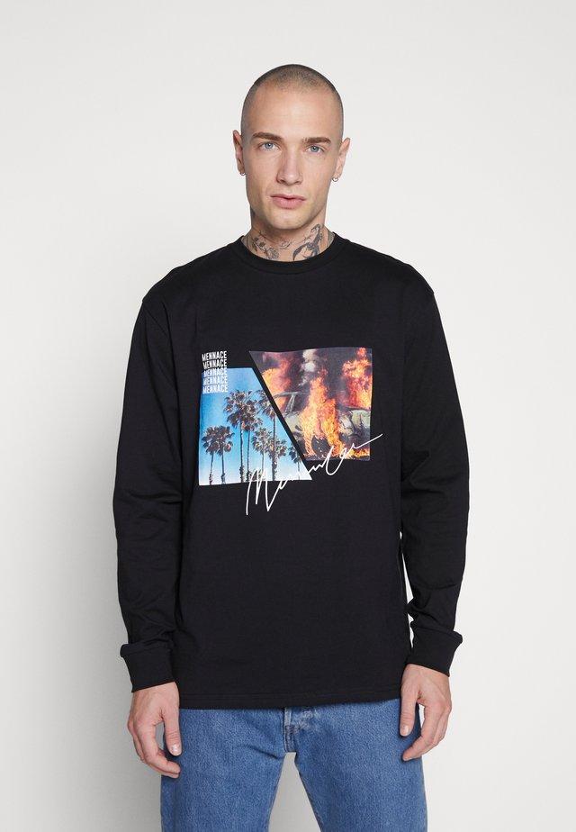 UNISEX BURNING PARADISE  - Pitkähihainen paita - black