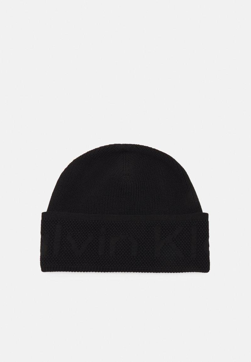 Calvin Klein - DEBOSSED BEANIE UNISEX - Pipo - black