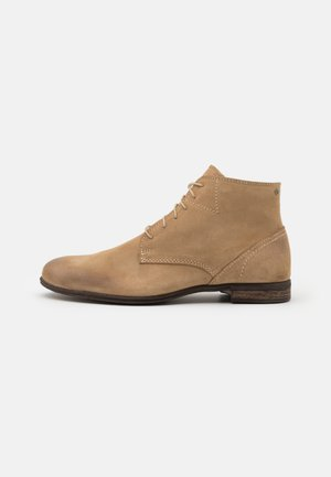 DIRTY MID - Lace-up ankle boots - beige
