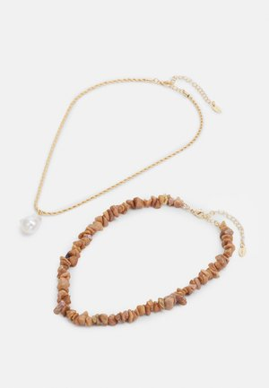 MULTIROW SPARKLE SHARD NECKLACE 2 PACK - Necklace - gold-coloured