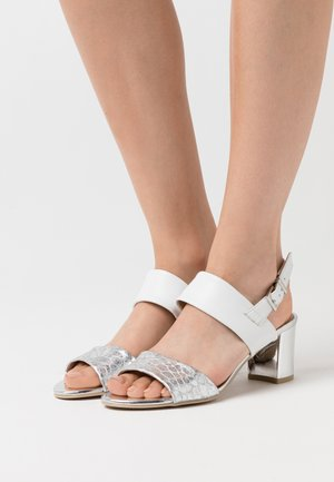 Sandals - silver/white