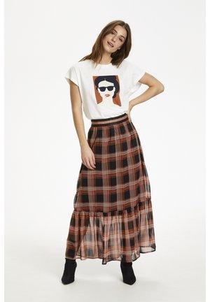 KASTINE - Maxi skirt - black