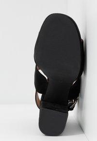 Even&Odd Wide Fit - LEATHER  - High heeled sandals - black - 6