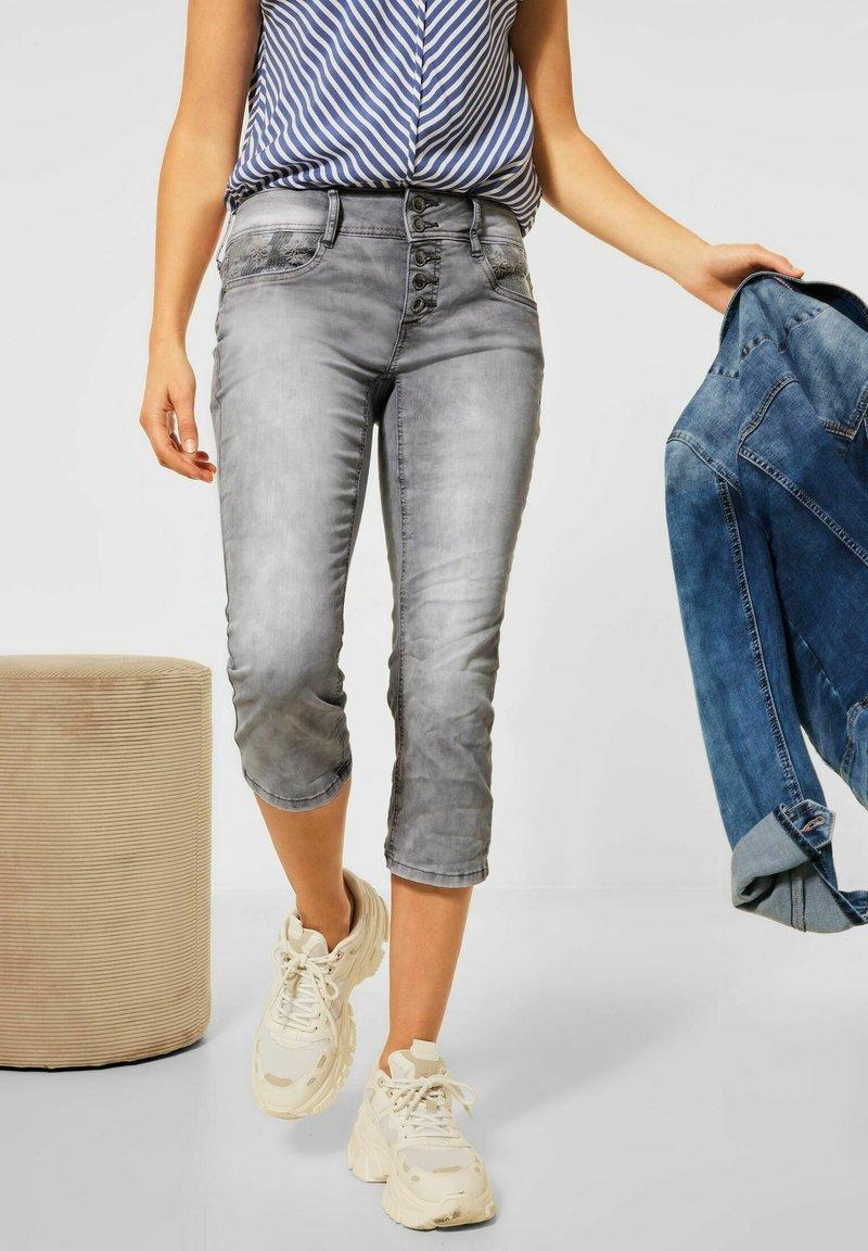 Street One - CASUAL FIT  - Slim fit jeans - grau