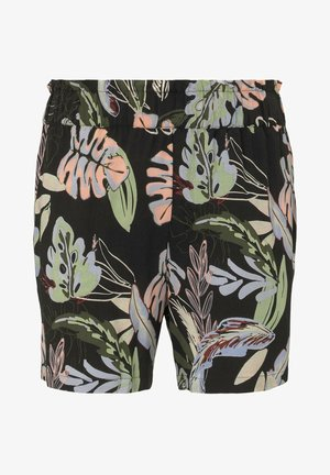 RELAXED - Short - black tropical print