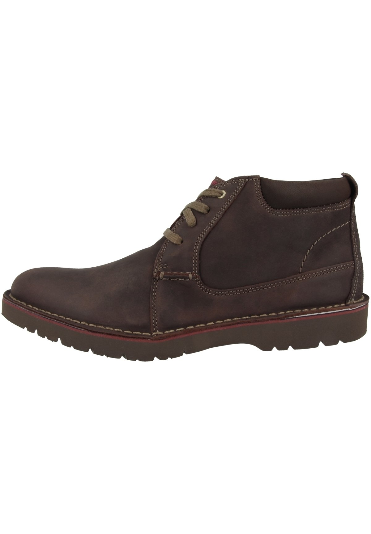 Homme VARGO MID - Chaussures à lacets - dark brown leather