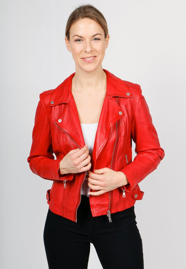UNDRESS ME!-FN SVF - Leather jacket - chilly red