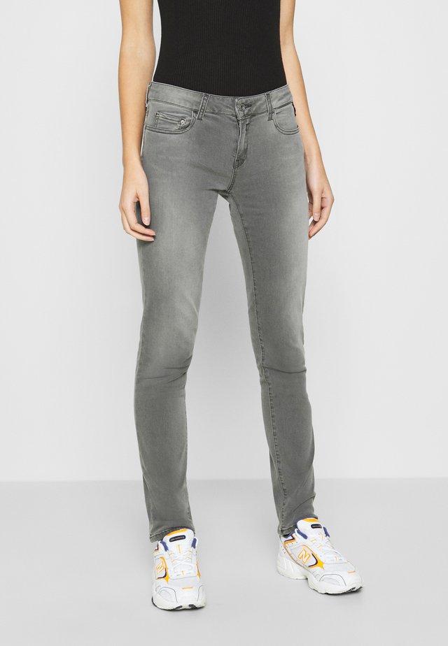 FAABY - Jean slim - dark grey