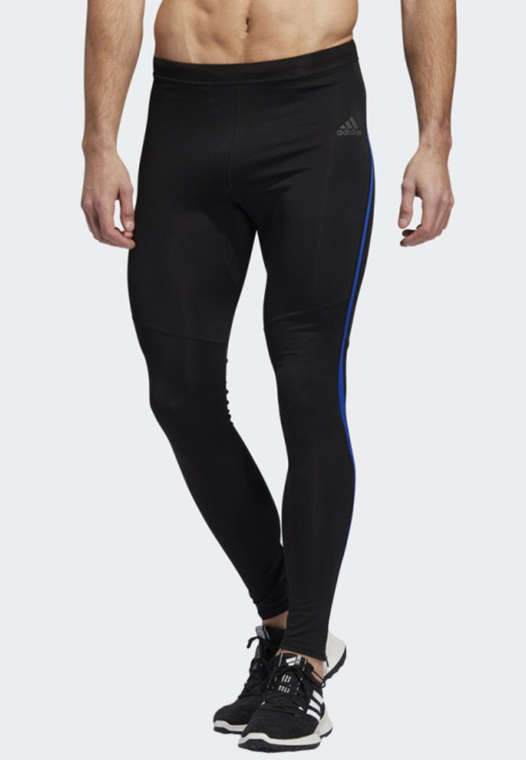 adidas Performance - OWN THE RUN LONG TIGHTS - Caleçon long - black/blue