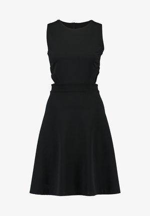 WAIST CUT OUT MIDI DRESS - Cocktailkjole - black