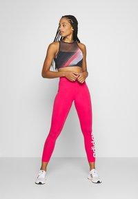 adidas Performance - LIN - Punčochy - power pink/white - 1