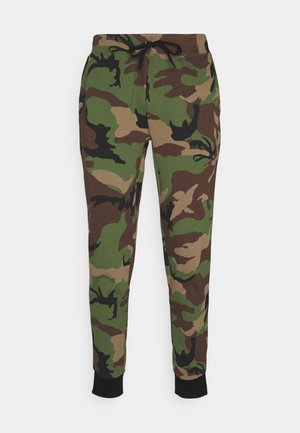 Tracksuit bottoms - khaki/multi-coloured