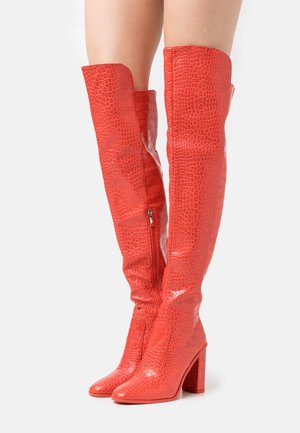 CYNTHIA - High heeled boots - red