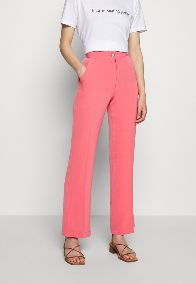 TROUSERS - Bukser - pink coral