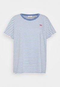 PERFECT CREW - Print T-shirt - silphium blue