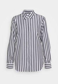 LANGARM - Button-down blouse - dark sapphire