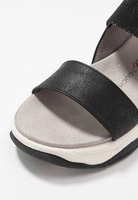 XTI - Sandály na platformě - black - 2