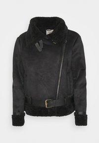 Object - OBJMANDY JACKET - Faux leather jacket - black - 0