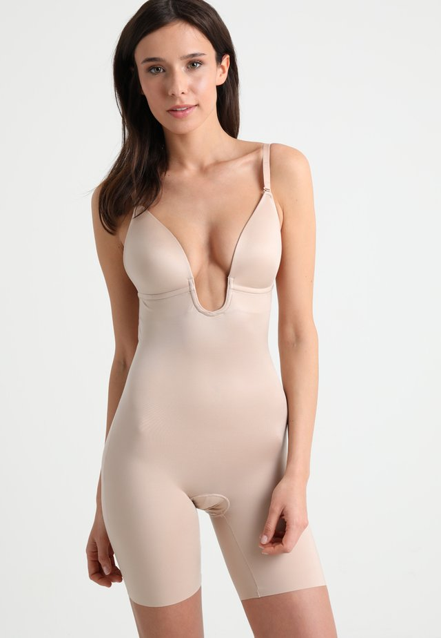 SUIT YOUR FANCY PLUNGE LOW BACK MID TIGH  - Body - champagne beige
