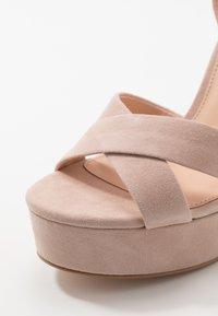 Even&Odd - LEATHER - Sandaler med høye hæler - nude - 2