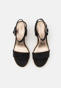 Tamaris - Wedge sandals - black - 5