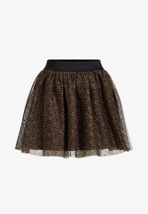 MEISJES TULE MET LUIPAARDPRINT - Mini skirt - brown