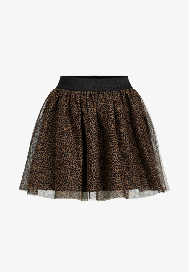 MEISJES TULE MET LUIPAARDPRINT - Mini skirt - brown