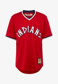 Fanatics - CLEVELAND INDIANS MAJESTIC COOPERSTOWN COOL BASE - T-shirt imprimé - red - 4