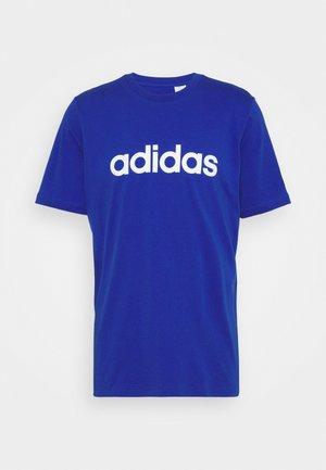 T-shirt med print - bold blue/white