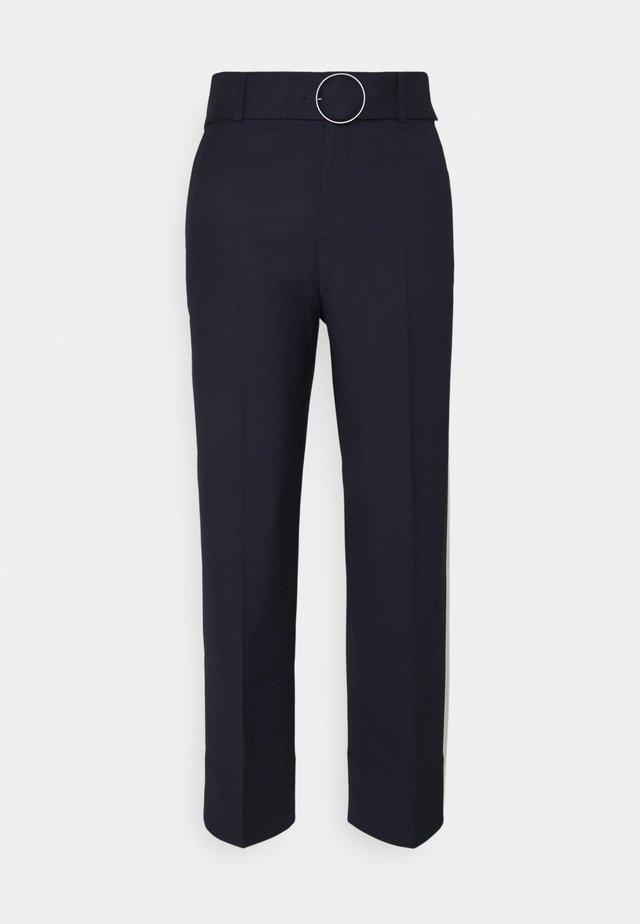 ENAMEL RING PANT - Pantalones - navy