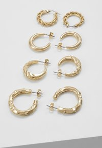 Pieces - PCSOL HOOP EARRINGS 4 PACK  - Earrings - gold-coloured - 2