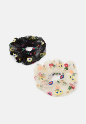 PCSPAINA OVERSIZED SCRUNCHIE 2 PACK - Accessori capelli - black/cream