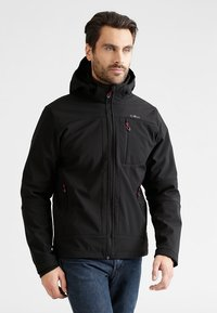 CMP - MAN JACKET ZIP HOOD - Soft shell jacket - nero - 0