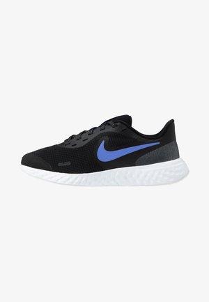 REVOLUTION 5 GLITTER GG - Neutral running shoes - black/sapphire/lemon/white