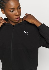 Puma - FULL ZIP HOODIE - Sweatjacke - black - 6