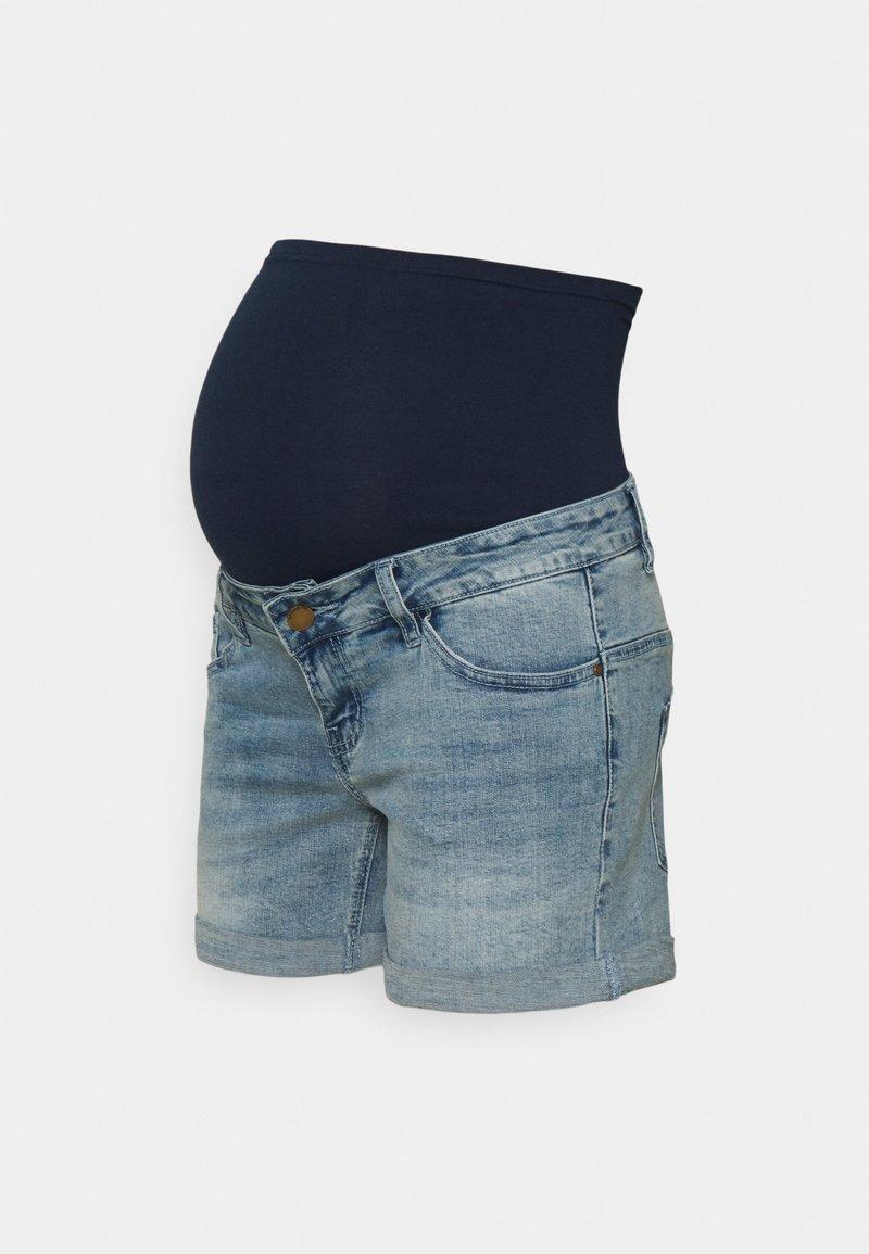 Forever Fit - ROLL UP - Denim shorts - light wash
