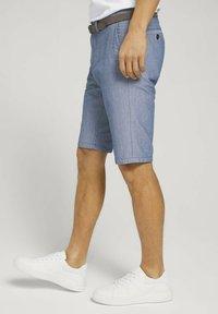TOM TAILOR - Shorts - light blue minimal indigo - 3