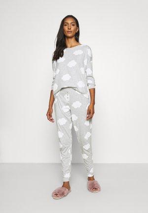 Pyjama set - grey/white