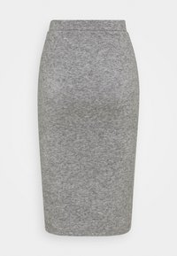 Anna Field - Knit midi skirt with slit - Pencil skirt - mottled grey - 1