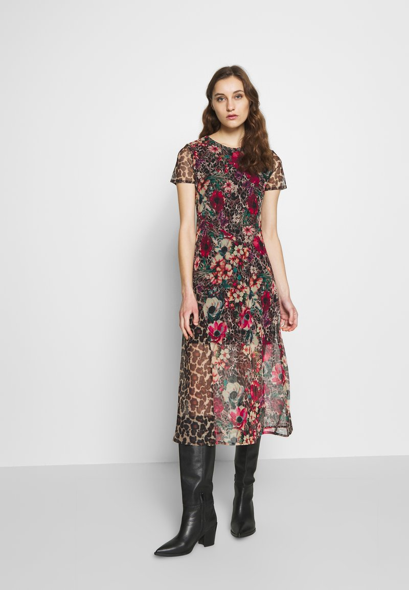 Desigual - VEST CALGARY - Shirt dress - marron