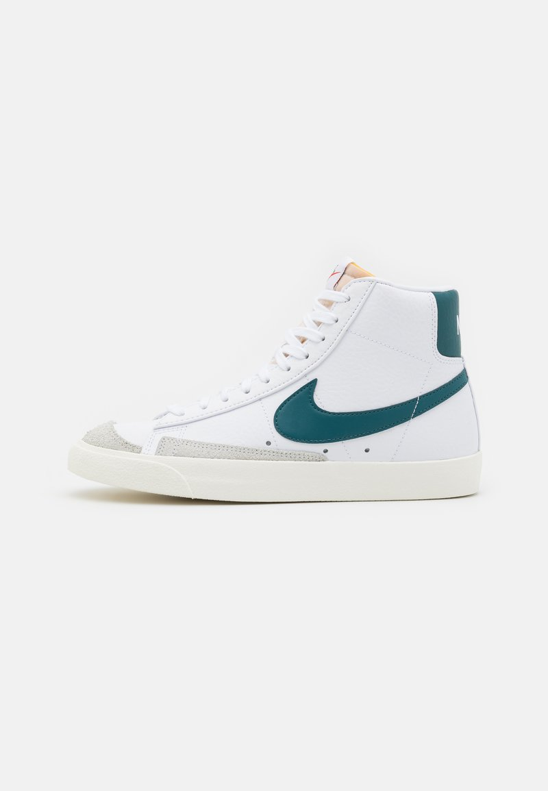 Nike Sportswear - BLAZER MID '77 UNISEX - High-top trainers - white/dark teal green/sail/white/black/team orange