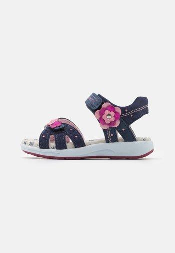 LEATHER - Sandals - dark blue