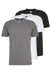 Dickies - V-NECK PACK 3 - Basic T-shirt - black/grey/white - 0