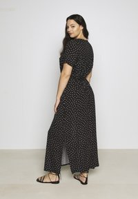 Dorothy Perkins Curve - WRAP SPOT  - Robe longue - black/white - 2