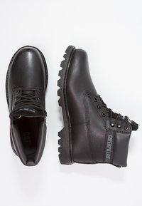 Cat Footwear - COLORADO - Šněrovací kotníkové boty - all black - 4
